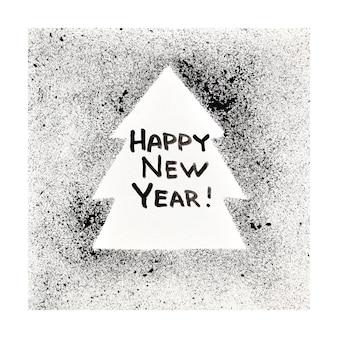 Feliz ano novo - árvore de natal no estilo street art