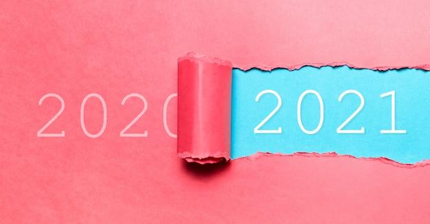 Feliz ano novo, novo começo; conceito de resolução.