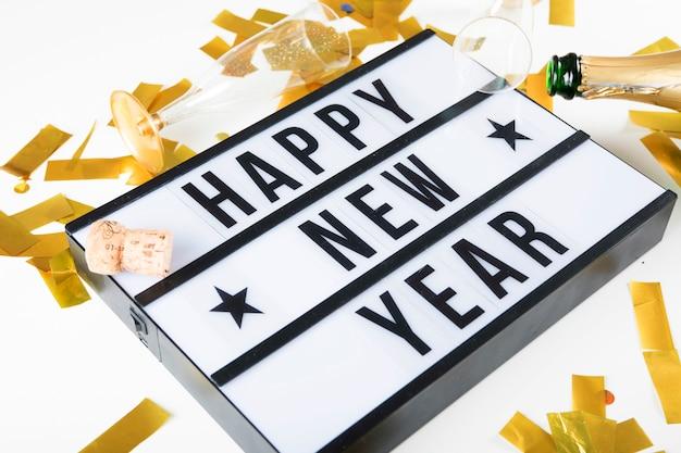 Feliz ano novo sinal