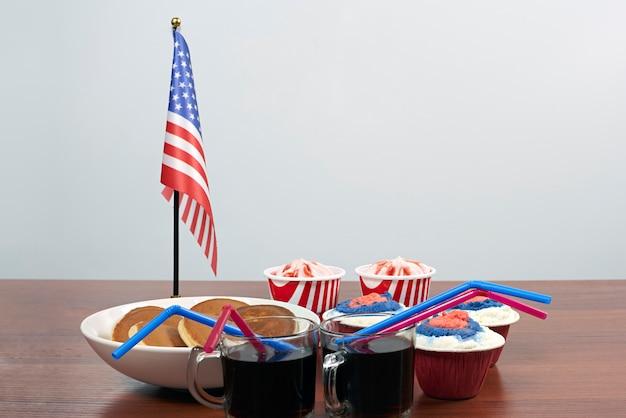 Feliz dia da independência. comemorando 4 de julho
