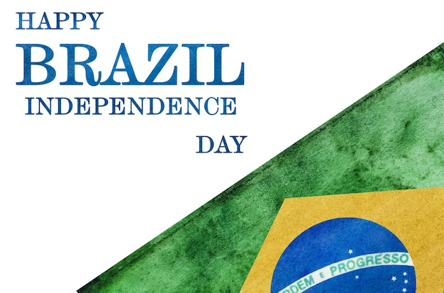 Feliz dia da independência. lindo cartão de felicitações. fechar-se