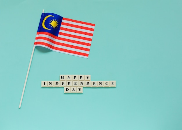 Feliz dia da independência saudação.