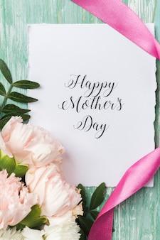 Feliz dia das mães cartão close-up