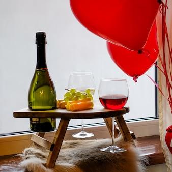 Feliz dia de velentine com lamento vermelho e branco. romântico