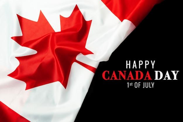 Feliz dia do canadá com fundo de bandeira do canadá