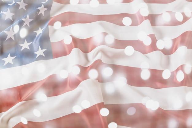 Feliz dia do trabalho, fundo patriótico americano