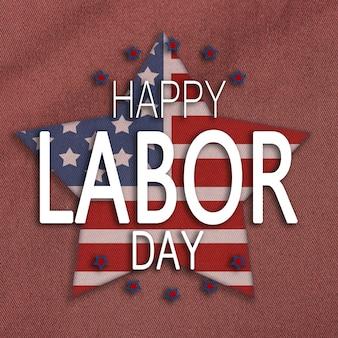 Feliz dia do trabalho, patriótico americano