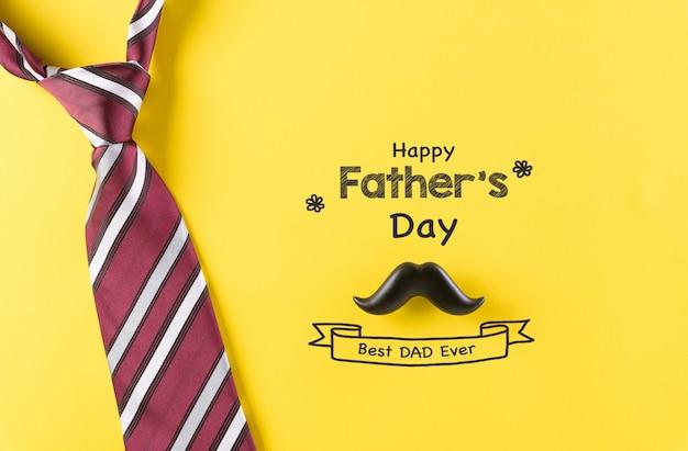 Feliz dia dos pais decoração em papel amarelo pastel