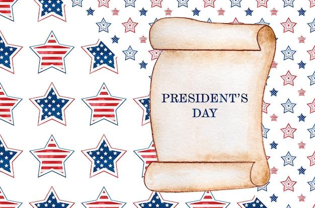 Feliz dia dos presidentes. inscrição de congratulações pelo feriado.