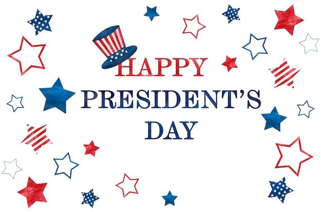 Feliz dia dos presidentes. inscrição de felicitações pelo feriado.