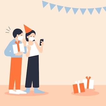 Feliz e seguro novo fundo de celebração normal