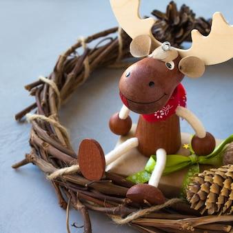 Feliz feriado mágico com o ano novo de natal elk