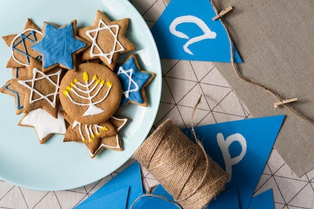 Feliz festival tradicional de hanukkah