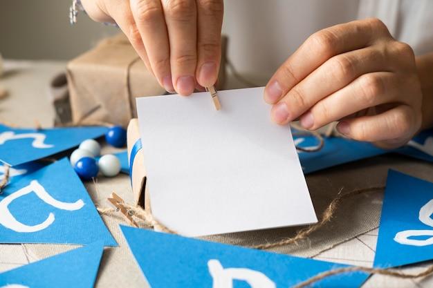 Feliz hanukkah tradicional festival cópia espaço cartão postal