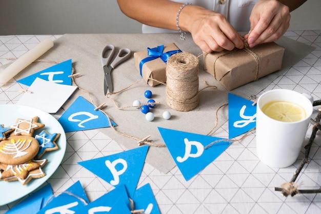 Feliz hanukkah tradicional festival de alta vista