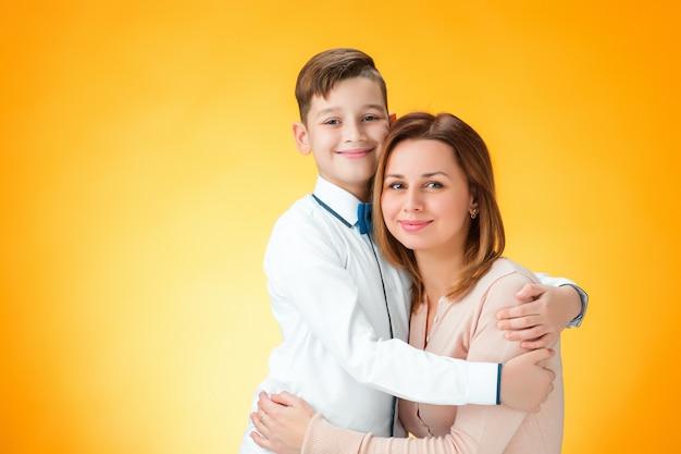 Feliz mãe e filho