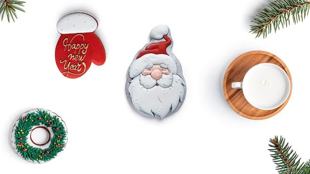Feliz natal com biscoitos de gengibre.