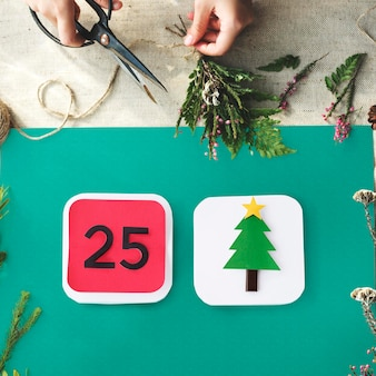 Feliz natal comemoração e feriado em família conceito festivo
