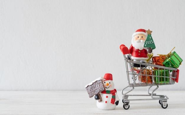 Feliz natal compras conceito de plano de fundo.