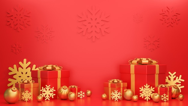 Feliz natal e feliz ano novo banner luxo estilo