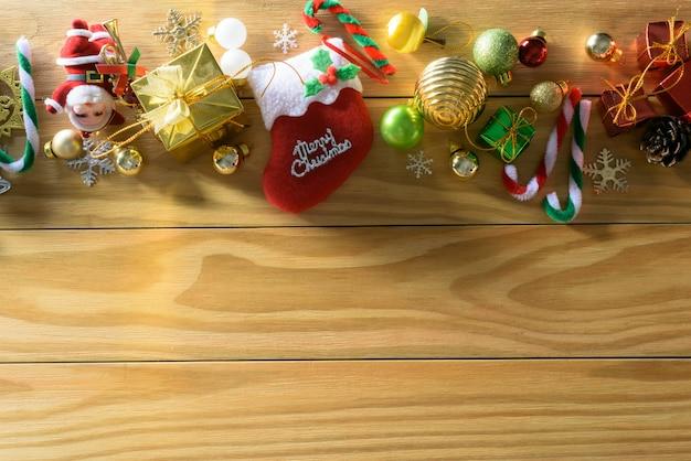 Feliz natal e feliz ano novo conceito outra decoração