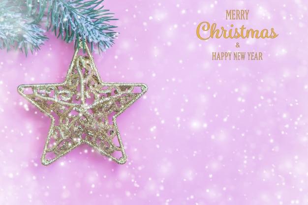 Feliz natal e feliz ano novo, plano de fundo do cartão de férias. foco seletivo. feriados