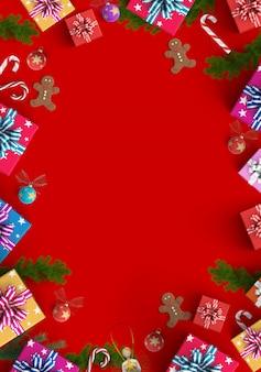 Feliz natal e fundo de caixa de presente