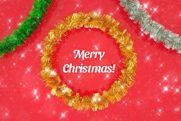 Feliz natal fundo 3d