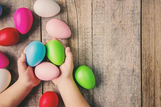 Feliz páscoa. foco seletivo. feriados e eventos.