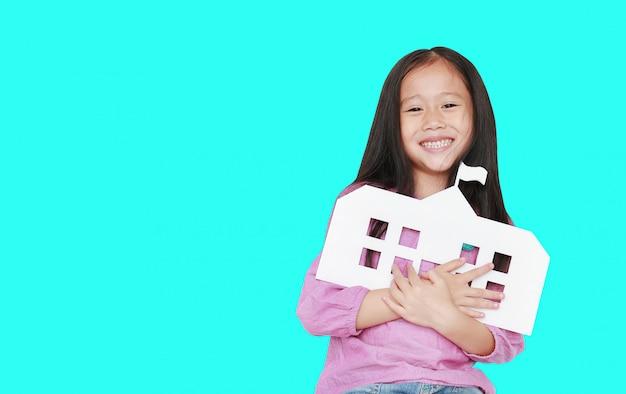 Feliz, pequeno, criança asiática, menina