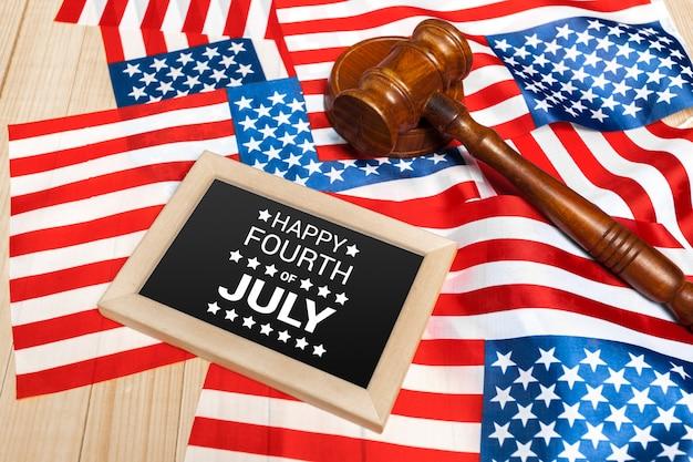 Feliz quatro de julho bandeira dos eua