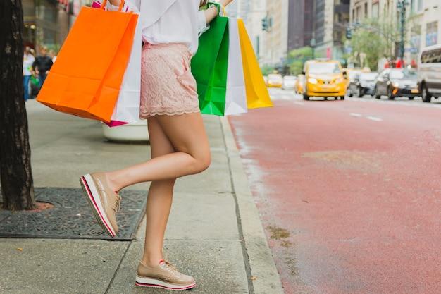 Femininas, com, bolsas para compras