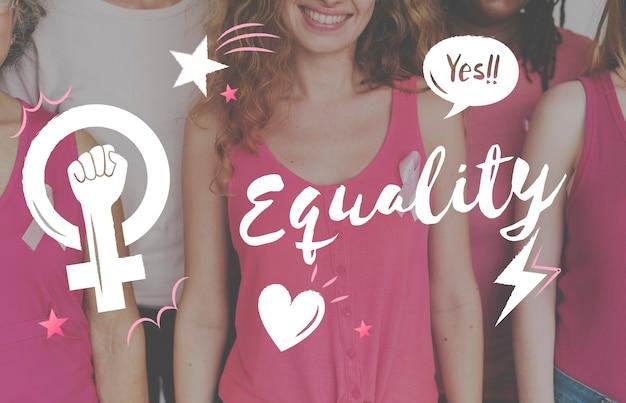 Feminismo, igualdade, confiança, mulheres, certas