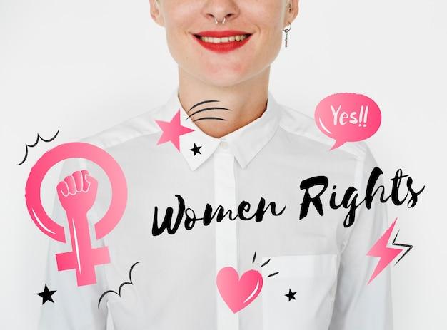 Feminismo igualdade confiança mulheres direito