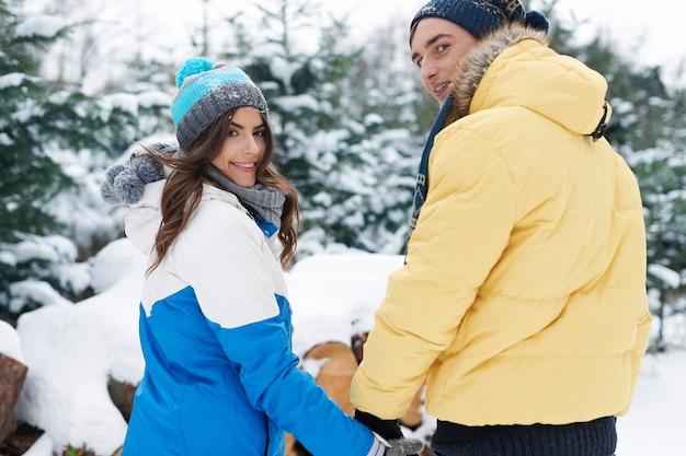Feriado de inverno com meu grande amor