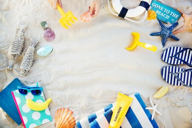 Feriado de praia de viagens de férias de verão relaxar conceito
