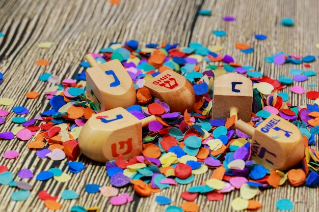 Feriado judaico ainda vida composta de elementos do festival chanuká hanukkah.