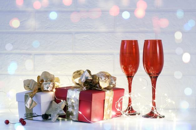Feriados de natal e arranjo de comemoração do ano novo