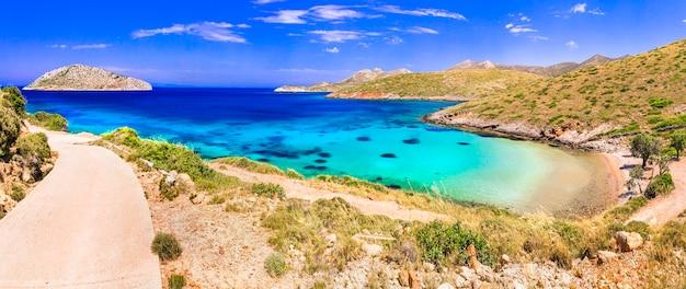 Férias de verão na grécia leros, ilha tranquila achbe agia kioura dodecaneso