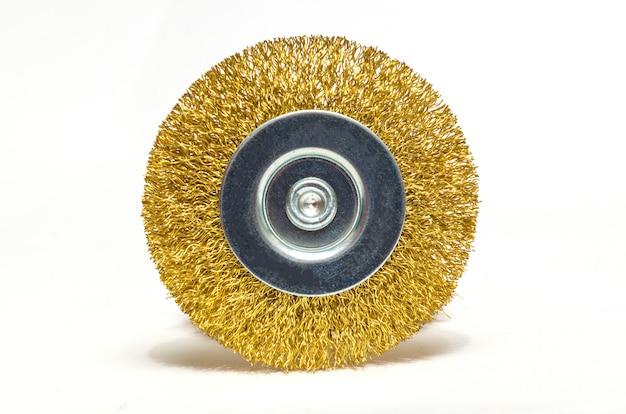 Ferramenta abrasiva ou escova redonda para moer materiais de construção no espaço em branco
