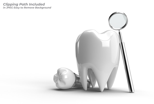Ferramenta caneta de conceito de cirurgia de implantes dentários traçado de recorte criado incluído no jpeg fácil de composto.