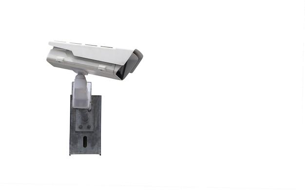 Ferramenta de câmera cctv isolada no fundo branco e tem caminhos de recorte, equipamentos para sistemas de segurança.