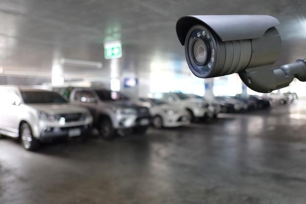 Ferramenta de cftv em equipamentos de estacionamento para sistemas de segurança.
