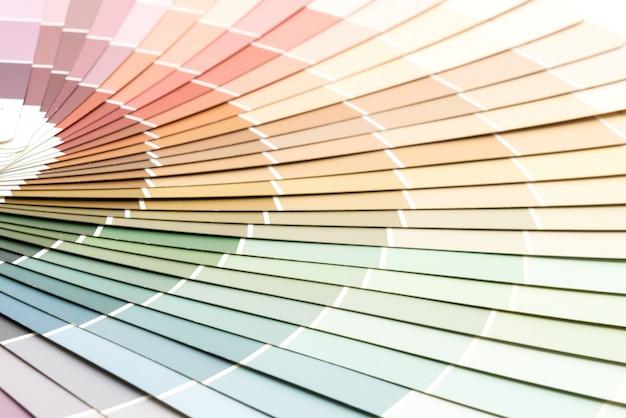 Ferramenta de esquema de catálogo de cores de amostra