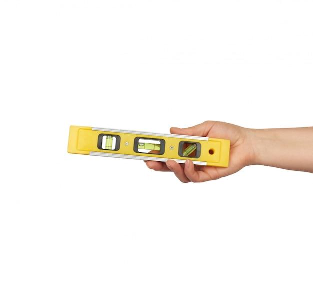 Ferramenta de nível amarelo plástico com cápsulas isoladas