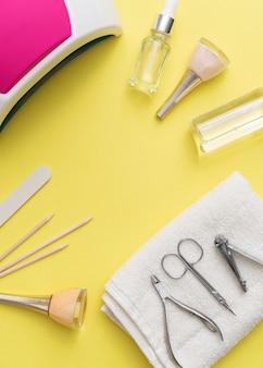 Ferramentas de acessórios para cuidados com as unhas e esmaltes