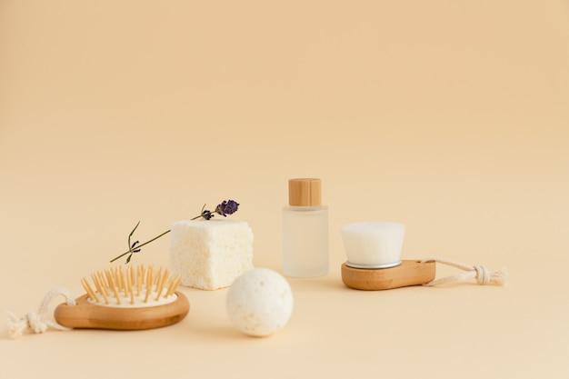 Ferramentas de banho modernas e ecológicas para massagem facial suave com bolas de banho de água micelares
