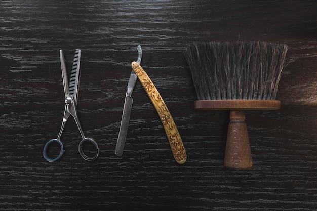 Ferramentas de barbeiro vintage
