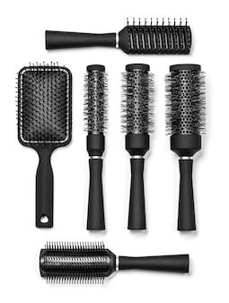 Ferramentas de cabeleireiro em branco