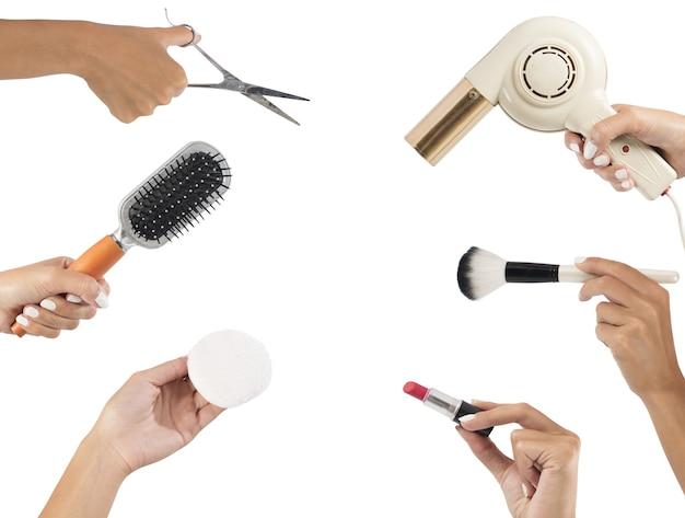 Ferramentas de modelagem para maquiagem e cabelo